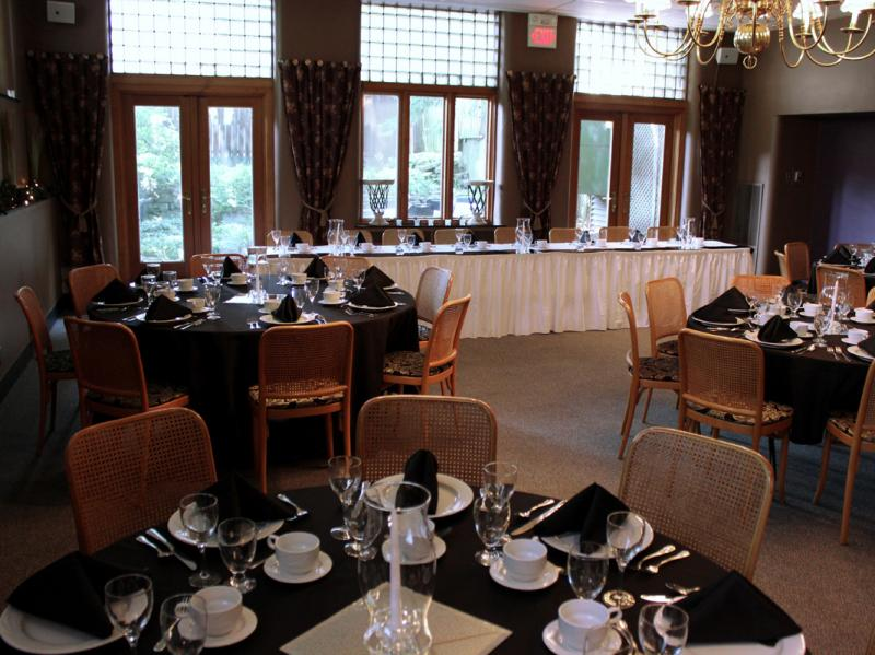 Table set up LL Main Dining Room