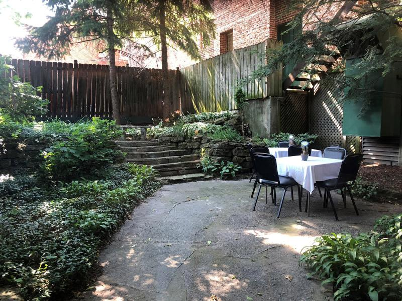 The Courtyard outside Lower Level Dining Area