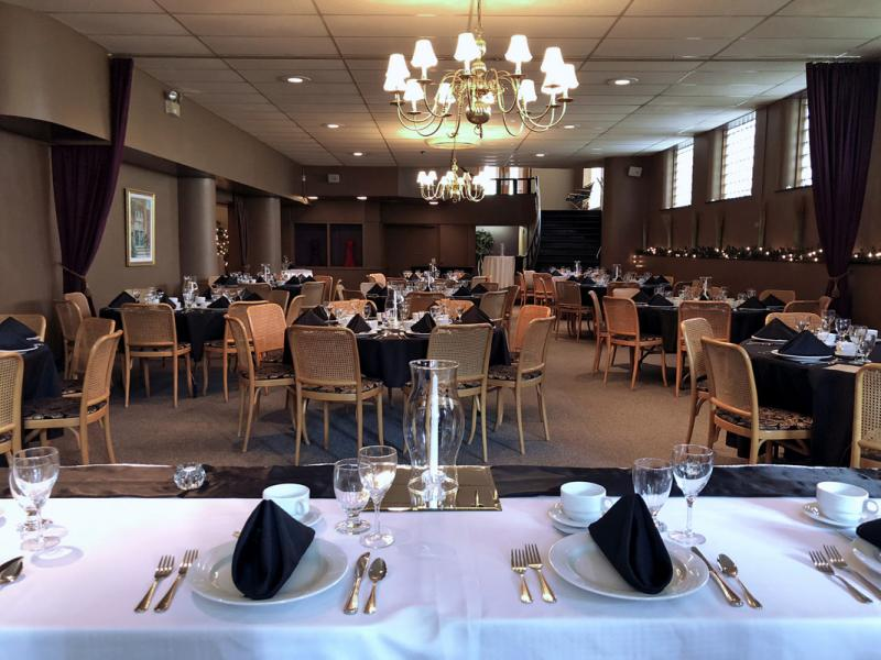 Wedding Set Up in the Lower Level Dining Area